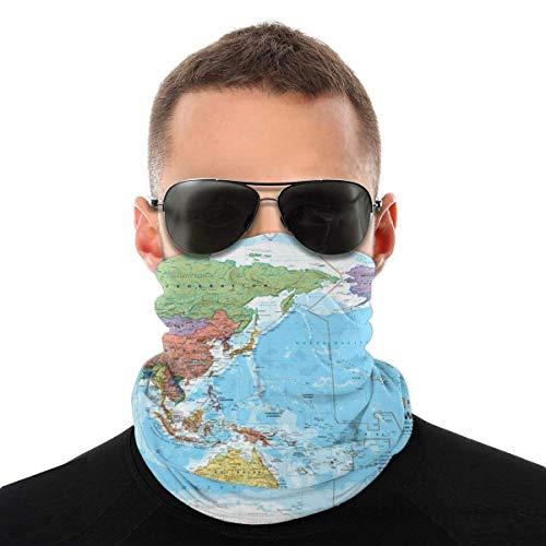 air kong Carte Politique Mondiale Cache Cou Anti-Solaire Tour de Cou Homme Femme Masque Bandana Anti-UV Cache-Col Unisexe Cagoule Bandeau