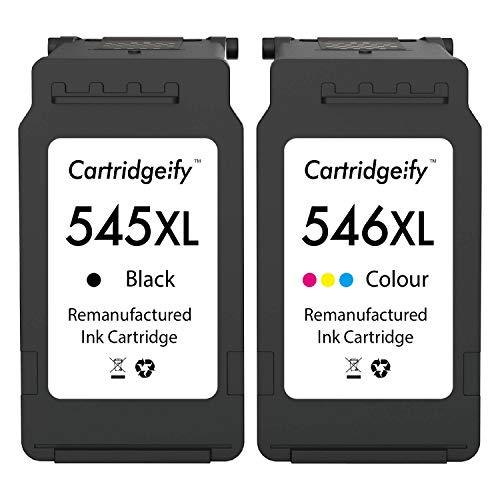 Cartridgeify Druckerpatronen 545 546 XL Kompatibel mit Canon PG-545 CL-546 XL Multipack, für PIXMA TS3150, TS3151, MX495, TR4550, MG2450, MG2550, MG2950, iP2850