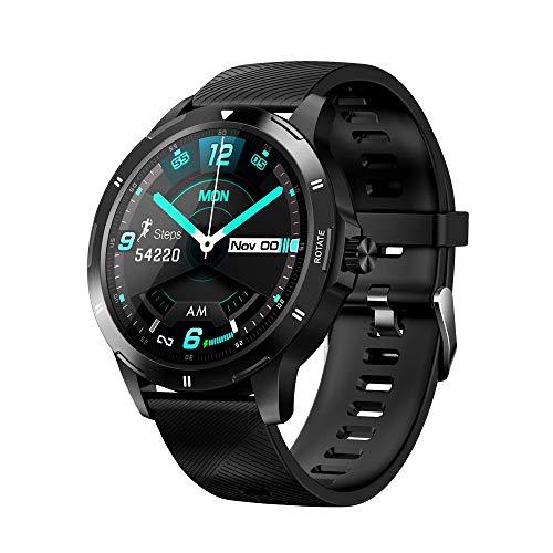 ZWW Nuevo K15 Reloj Inteligente Multifunción Termómetro Monitor De Ritmo Cardíaco Reloj Inteligente para Hombres Y Mujeres Reloj Inteligente Móvil,A