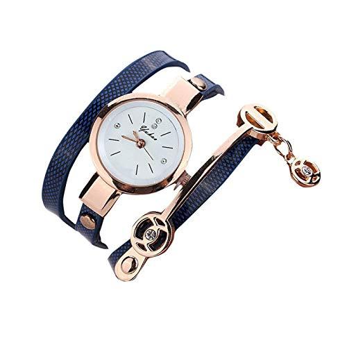 CMXUHUI Moderno y generoso, una buena opción para tu reloj de mujer de moda con correa de metal, reloj casual para mujer, reloj militar simple (color: azul)