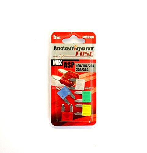 052100 Intelligente KFZ Sicherungen mit STATUS-LED Starterset 5 Stück ASP Mini 10-30A Service2mm