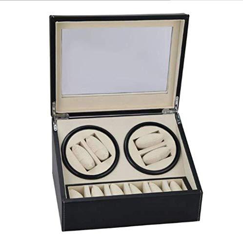 ZCYXQR Caja de Reloj mecánica automática enrolladora de Reloj Caja de Motor de Reloj automático/producción Hecha a Mano/Perfecto para Regalo de 4 + 6 ubicaciones