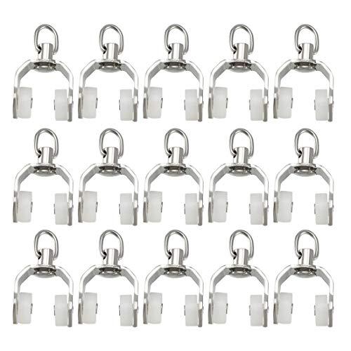 uxcell - Rodillos de plástico para cortina, rieles deslizantes