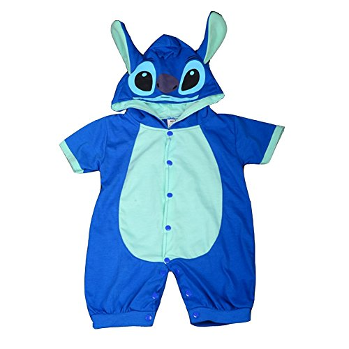 Dressy Daisy Baby Boys' Stitch Onesie Romper Halloween Birthday Fancy Party Costume Outfit Jumpsuit Size 9-12 Months