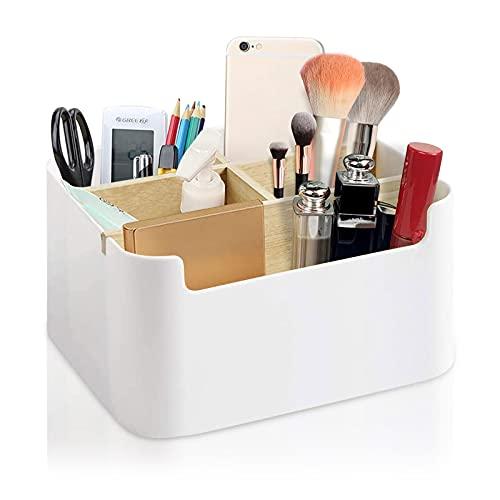 Soporte de madera para escritorio, soporte para mando a distancia, organizador de escritorio, caja de almacenamiento multifuncional, accesorios de escritorio, soporte para joyas