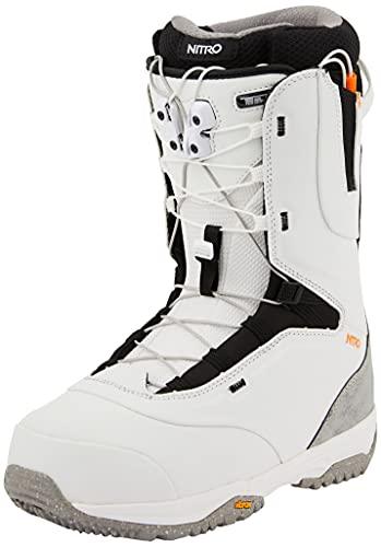 Nitro Snowboards Venture Pro TLS Botas de Snowboard, Hombres, Off White-Black, 300