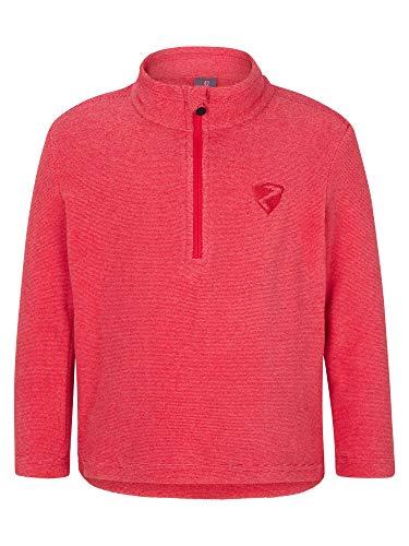 Ziener Mädchen JEMIL Skipullover, Skirolli, Funktions-Shirt   Langarm, Atmungsaktiv, Fleece, Warm, pink Rouge, 116