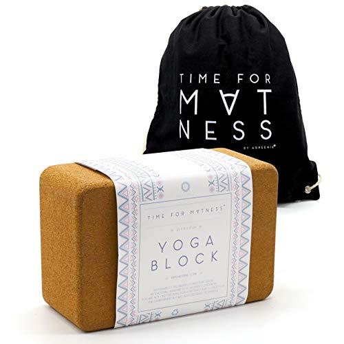 Yoga Klotz mit Rucksack und Übungsanleitungen