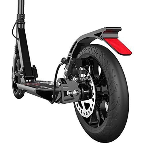 AXQQ Kick Scooters, Sistema de Plegado de liberación rápida - Sistema de suspensión Delantero + Scooter, Regalos de cumpleaños para Mujeres/Hombres/Adolescentes/niños, Soportes 220 Libras