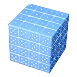 4x4 Pocket 3D Braille Cube, Braille Learning Tool Learning Device Handable Size,Braille IQ Games Toys