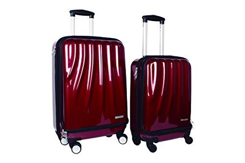 [ Oferta Flash] Sets Maletas Ventoria Spark | Disponibles en Color Rojo Satinado | Set 2 Maletas Rojas: 55 x 36 x 21 cm