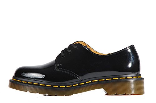 Dr Martens 1461 Patent Black Classic Shoes 3 eyelets - Scarpe vernice nere