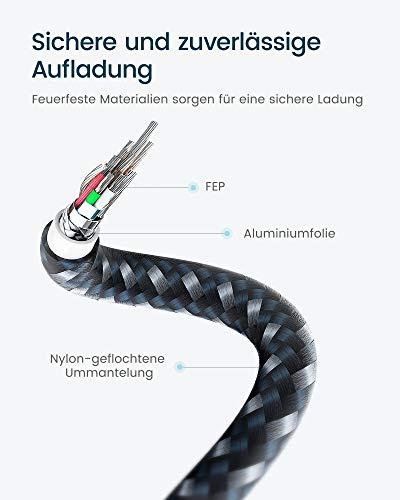 RAMPOW USB C auf Lightning Kabel, USB C Lightning Kabel[MFi-Zertifiziert und PD-Schnellaufladung], USB-C auf Lightning Kabel kompatibel mit iPhone 8/X/XS/XR/11/12, iPad und mehr - 1M/ Marineblau