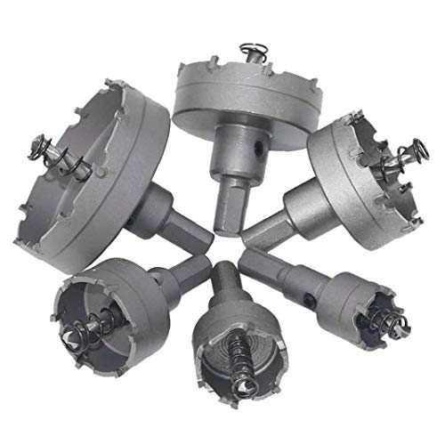 xiaocheng Loch Sägezahn Kit Legierung Kernbohrer Set Schneidwerkzeug Für Metall, Holz, 6pcs Bequem Und Praktisch Werkzeuge