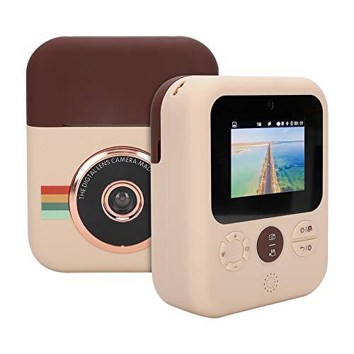 Appareil photo instantané pour enfants, mini appareil photo à impression cadeau, imprimante thermique, double appareil photo haute définition 12 MP, écran couleur IPS, photos haute définition