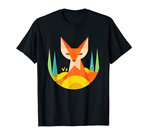 Fraktale geometrische Fox Animal Wildlife Graphic T-Shirt