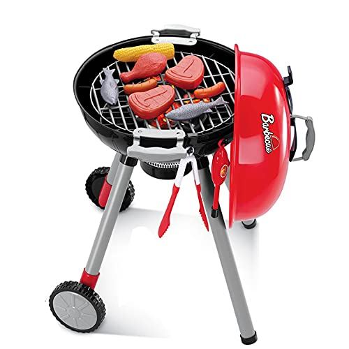 TikTakToo Barbecue Garden Barbecue Kettle Barbecue Children's Grill with Light, Sound and Numerous Accessories, Dimensions: 37 cm x 37 cm x 56 cm, Toy for Children from 3 Years