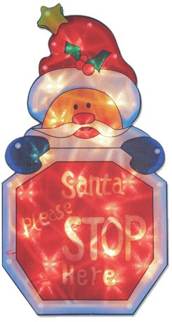 The Benross Christmas Workshop - LED di Babbo Natale, Motivo: Stop, in Metallo