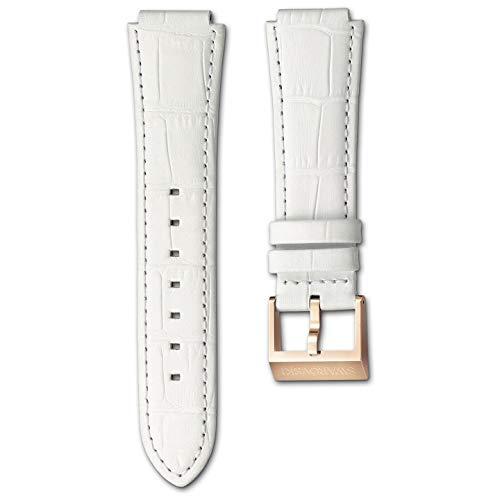 Swarosvski Uhrenarmband 1101845 Leder, weiß roségold