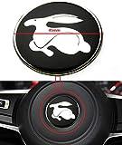 Mesport 2X Rabbit Steering Wheel Center Logo Emblem Badge Stiker For VW GOLF MK 5 V GTI RABBIT Amarok Arteon Atlas Beetle Caddy CC