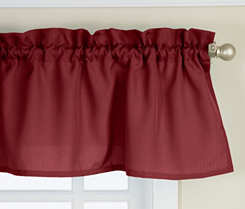 Lorraine Home Fashions Ribcord Valance, 54-Inch x 12-Inch, W