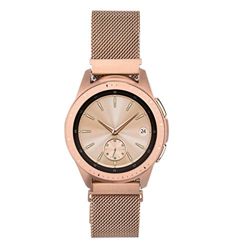 V-MORO Kompatibel für Samsung Galaxy Watch 42mm Armband/Galaxy Active 2 Armband/Galaxy Active 40mm 44mm Armband,uhrenarmband 20 mm für Gear Sport/Withings Steel hr 40mm Rose Gold