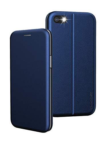 BYONDCASE Handyhülle iPhone 7 Hülle Blau, iPhone 8 Hülle [iPhone SE 2020 Hülle Deluxe Leder Flip-Hülle Klapphülle] Cover Schutzhülle kompatibel für iPhone 7/8 / SE 2020 Tasche