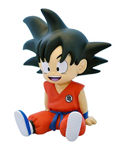 DragonPro Goku Sentado Mini Hucha 13,5 cm PVC Dragon Ball, Multicolor (PLY00080062)