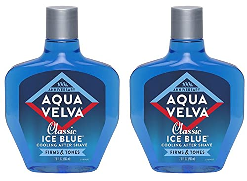 Aqua Velva Cooling Mens After Shave, Classic Ice Blue, Soothes, Cools, and Refreshes Skin- 7 Ounce