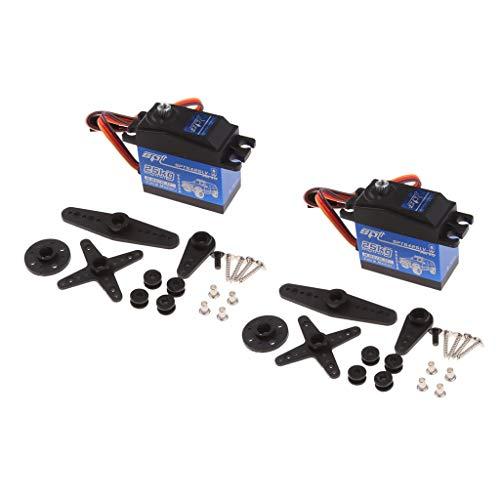 lahomia 2X Servo de Engranaje de Dirección 25 Kg de Par para 1/8 1/10 RC Car Buggy Crawler Parts