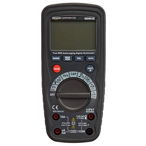 AmazonCommercial 4000 Count Compact Digital Multimeter, IP67, True RMS, CATIV 600V