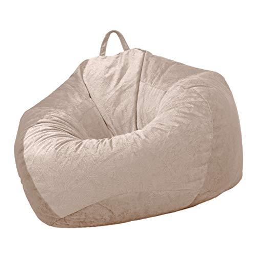 MagiDeal Audlt Teen Size Bean Bag Silla Cubierta Almacenamiento de Juguetes - Marrón Claro, Individual