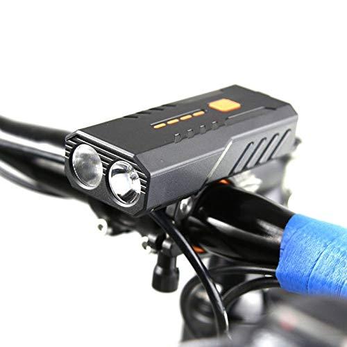 XIAOHUA-UK Luces de Bicicleta Recargables USB, Faros LED Brillantes Faros Delanteros Luces de Bicicleta de Ciclismo Impermeables, 6 Modos de iluminación, Fuertes y duraderos (Color : White Light)