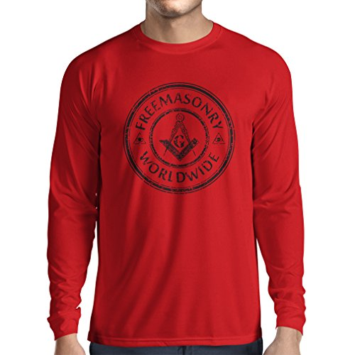 Camiseta de Manga Larga Francmasonería - Logotipo de la cuadrilla y del compás - G Gnosis - Regalos masónicos