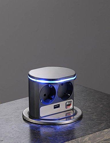 Stromstation VoltPort, mit LED-Beleuchtung und mit USB