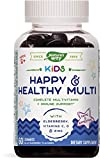 Nature's Way Kids Happy & Healthy Multivitamin, Vitamin C, Zinc & Elderberry, 60 Gummies