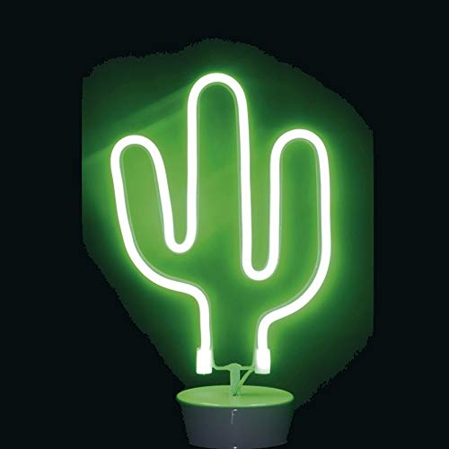 Urban living Cactus Néon LED Vert