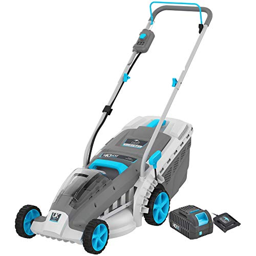 """18Inch 40V Cordless Lawn Mower, Brushless Battery Lawn Mower, 5 Adjustable Heights(1""""-3"""") & Collect or Mulch Rotary Mower with Battery and Charger"""