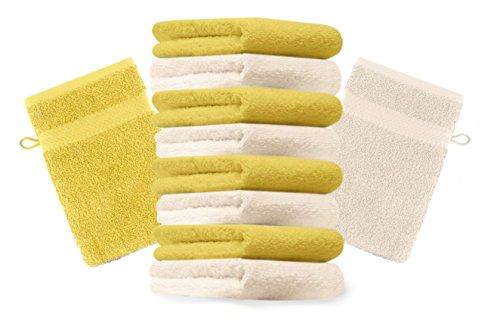 BETZ 10 pièces laver Gants gant de toilette Premium 16x21cm Violet /& Orange