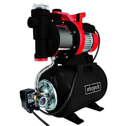 scheppach HWW1300 Hauswasserwerk 230V - 1300W | 5400 l/h | 1,5-3bar | 8m Ansaughöhe | 50m Förderhöhe | 24l Tank