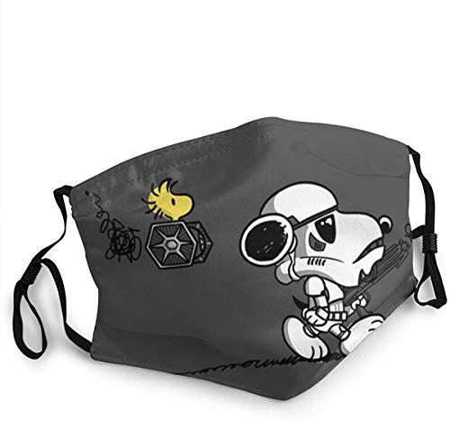 Snoo-py - Máscara de media cara de algodón, resistente al viento, reutilizable, cómodo, transpirable, pasamontañas