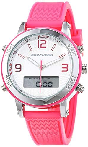 Skechers Reloj Analógico-Digital para Mujer de Cuarzo con Correa en Silicona SR6002