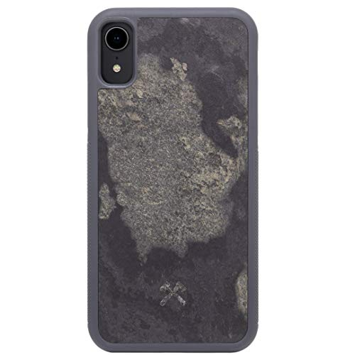 Woodcessories - Hülle kompatibel mit iPhone Xr aus hochwertigem Stein, EcoBump Stone (Granit Grau)