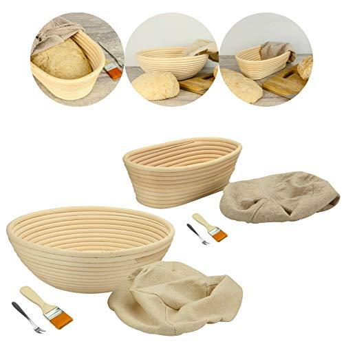 Cuencos redondos a prueba de pan, cesta de ratán para hacer pan, cocina casera, masa de alimentos, herramienta de moler, hornear, moños al vapor, masa 12 * 7.5cm