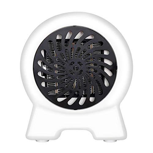 MagiDeal Ventilador Eléctrico Calentador de Espacio Portátil Invierno Cálido Escritorio de Oficina en Casa 500W - Blanco