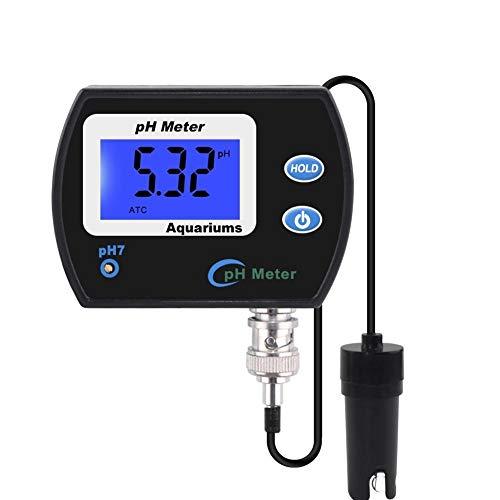 YWJT Medidor de pH preciso Profesional para Acuario Monitor de Calidad del Agua multiparámetro Acidómetro Monitor de pH en línea