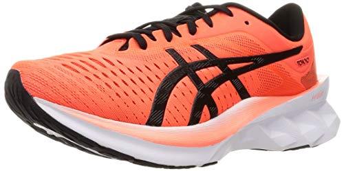 ASICS Herren Novablast Tokyo Running shoes, Sunrise Red Black, 45 EU