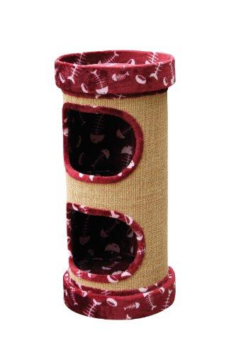Nobby 62016-88 Arbre à Chats Lazy (Rouge avec des Poissons)