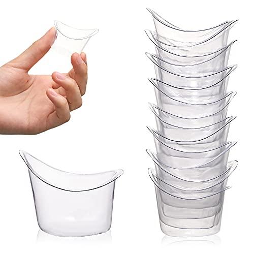 15 Vasos de Lavado de Ojos Desechable Copas de Plástico de Lavado de Ojos Copas Transparentes de Limpieza de Ojos Herramienta de Cuidado de Taza de Medir para Viaje, No Estéril