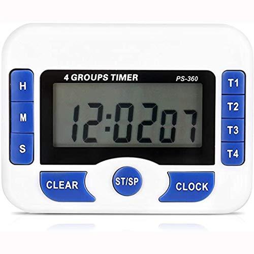 Temporizador de Cocina Digital con cronómetro magnético Función de Reloj Multifunción Temporizador (Color : White)
